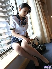 Japanese tramp is cock hungry and waiting for her next encounter with a hard on