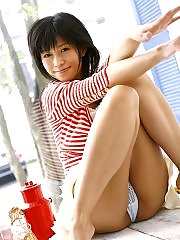 Sasa Handa pretty Asian teen has a nice ass and big tits and a great smile