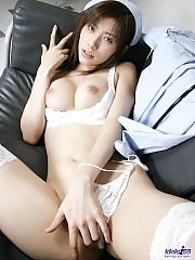Riko enjoys being the slut who leaves with the most cock for the night